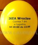 Nadruk na żółtym balonie dla IKEA.