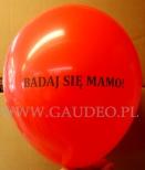 Nadruk okolicznościowy wykonany na balonie.