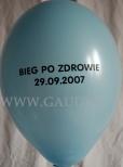 Nadruk tekstu okolicznościowego wykonany na balonie.