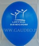 Nadruk logotypu na balonie na potrzeby akcji pomocy dzieciom organizowanej przez firmę Urtica.
