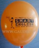 Nadruk na balonie dla szkoły językowej.