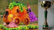 Balonowa kareta Kopciuszka - to praca konkursowa która firma Gaudeo zdobyła 2 miejsce w pierwszych mistrzostwach Polski dekoratorów