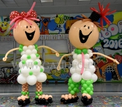 Dzieciaki z balonów na imprezę Barbórkową.