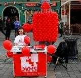 Puzzel wykonany z balonów podczas plenerowej akcji Fundacji DKMS.