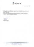 Referencje skierowane do firmy Gaudeo w związku z realizacją dekoracji balonowych od firmy Kreatis.