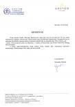 Referencja dla Gaudeo za punktualność i kreatywność.