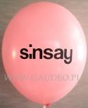 Nadruk logo Sinsay na balonach.