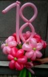 Różowy bukiet balonowy na osiemnastkę.