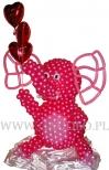 Różowy słoń balonowy.