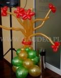 Stroik z kwiatków balonowych.