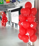 Balony z helem jako dekoracja biura.