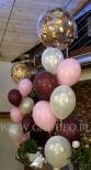 Balony z helem i konfetti.