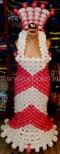 Sukienka balonowa na manekinie.