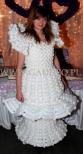 Sukienka z balonów do promocji stoiska na targach ślubnych.