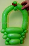 Torebka skręcona z balonów.