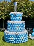 Balonowy tort urodzinowy.