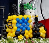 Balonowy traktor.