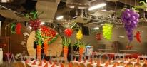 Balonowe warzywa i owoce wykonane na Comber Babski.