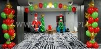 Zabawa mikołajkowa udekorowana przy pomocy balonów w hotelu Śląsk we Wrocławiu.