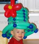Zielony kapelusz balonowy.