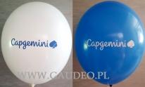 Pomalowane balony z logo.
