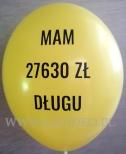 Balon z nadrukiem dla Partii Politycznej.