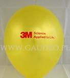 Żółty balon z czerwonym nadrukiem dla firmy 3M.