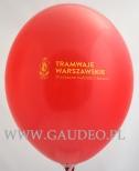 Balon z nadrukiem.