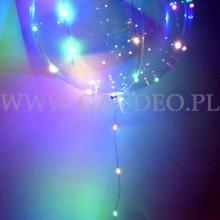 Balon z helem świecący w ciemności.