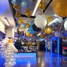 Balonowa dekoracja w Hotelu Sand na sylwestra.
