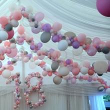 Dekoracja z balonów na osiemnastkę.