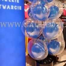 Balony bubble z helem na otwarcie salonu 4F w Gdańsku.