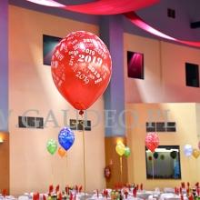 Balony z nadrukiem w hali IASE we Wrocławiu.