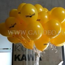 Balony z helem, nadrukiem i dostawą dla Politechniki.