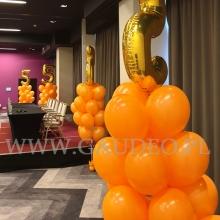 Stroiki z balonów helowych w wrocławskim hotelu.