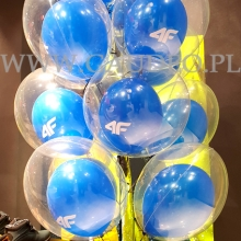 Balony z helem jako dekoracja na otwarcie.