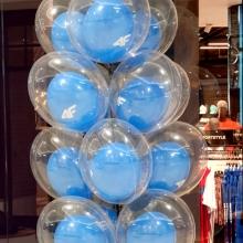 Balony z helem w Galerii Solaris.