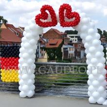 Brama z balonów dla Młodej Pary.