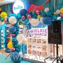 Organiczna girlanda balonowa w Kielcach.