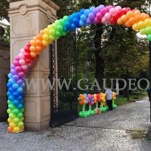 Bajecznie kolorowa brama balonowa we Wrocławiu.