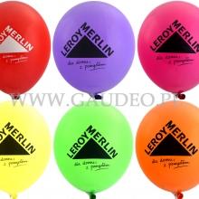 Logo Leroy Merlin nadrukowane na balonach.
