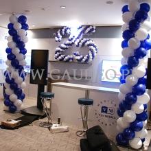 Dekoracja balonowa na konferencji w hotelu Hilton w Warszawie.