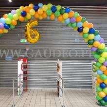 Łuk z balonów na urodziny Auchan Bronowice.