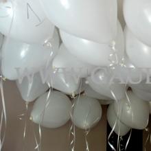 Początek testu - duże, pękate balony z helem.