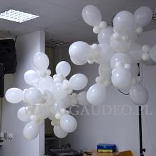 Śnieżynki z balonów.