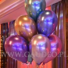 Balony helowe jako dekoracja stołu.